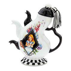 Disney Parks Wonderland Tea Pot Alice Mad Hatter March Hare Teapot Party | eBay
