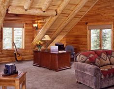 Log Home Office
