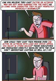 The Cycle of Reacting to Comic Book Movie Casting