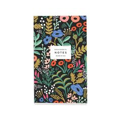 Tapestry Pocket Notepad feature sixty blank tear-away sheets and a small pocket great for tickets or receipts.