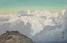 "Amazon.com: Japanese Art Print ""From Komagatake"" by Yoshida Hiroshi: Posters & Prints"