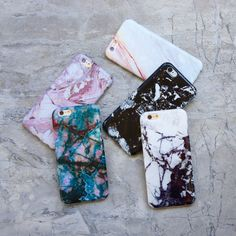 Marble Collection from Elemental Cases. Rose x Teal x Contrast x Black x Coral Case. Available for iPhone 6/6s and 6 Plus/6s Plus
