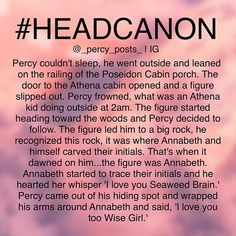 OH MY GODS I LOVE THIS. But i'm pretty sure Annabeth would've judo-flipped Percy again for sneaking up on her like that..<<< Same here bro