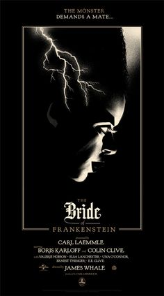 Bride of Frankenstein by Olly Moss