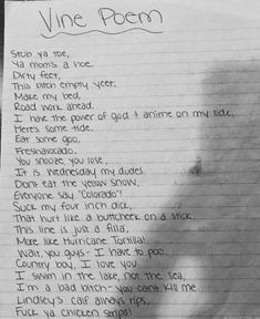 Vine Poem - Genius Meme - Vine Poem Vine Poem Genius Meme the only poetry i like The post Vine Poem appeared first on Gag Dad. The post Vine Poem appeared first on Gag Dad. Funny Relatable Memes, Funny Posts, Memes Humor, Stupid Funny, Hilarious, Funny Stuff, Wallaper Iphone, Funny Wallpapers, Ha Ha