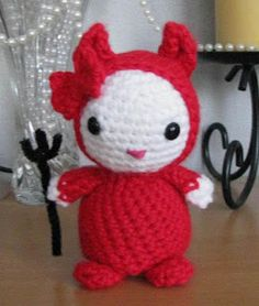 FREE #crochet pattern   Armina's Ami-Nals: Amigurumi HK Devil - - http://arminas-aminals.blogspot.com/2008/10/amigurumi-hk-devil_1752.html