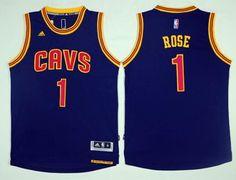 21 Cleveland Cavaliers  1 Derrick Rose Navy Blue Alternate NBA Stitched  Jersey f442c2f50