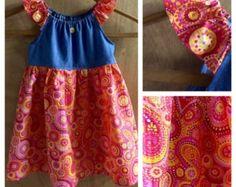 Paisley Hippie robe de paysanne, taille 3 t