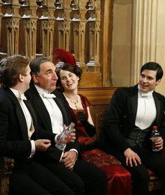 Feeling the love: Carson, Matthew, Lady Mary & Thomas