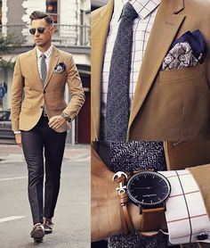 """Men's Fashion on Instagram: """"It's all in the details via @whatmyboyfriendwore wearing @threadetiquette and @hm"""""""
