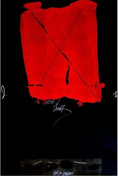 justanothermasterpiece:    Christo Kasabov, Red, Acrylic , pencil and oil stick on Arches cotton paper.