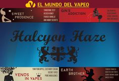 DISPONIBLES YA A LA VENTA LOS E-LIQUIDS HALCYON HAZE EN NUESTRA TIENDA!! www.elmundodelvapeo.com