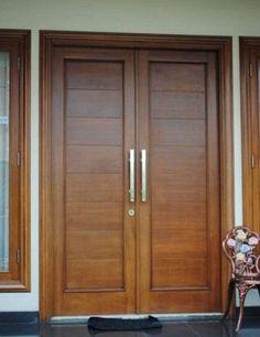 27 Ideas Double Door Design Entrance Woods For 2020 Wooden Double Doors, Double Front Entry Doors, Modern Wooden Doors, Modern Front Door, Wood Front Doors, Main Entrance Door Design, Wooden Front Door Design, Double Door Design, Entrance Doors