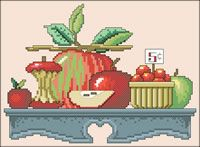 Sally's Apples, designed by Roger W. Reinardy, from @JanLynn Corp.