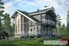 Проект дома из бруса с цокольным этажом М113 (11-72) - Проект деревянного дома с компактным пятном застройки