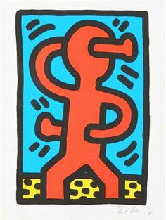 Keith Haring , Untitled (Standing Man from 1987 4 pc. Suite), AC Fine Art on…