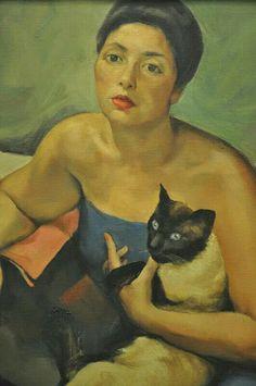 Abel Manta ( peintre Portugais ) 1888 1982  Portrait of Berta Mendes 1934
