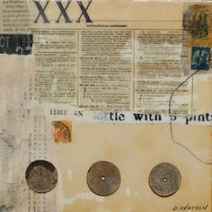 """Postage 2    8""""x8"""" by Donna Watson"""