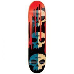 Zero Skateboards <br> Zero 3 Skull Blood R7 Deck <br>Blue/Natural 8.125x31.7