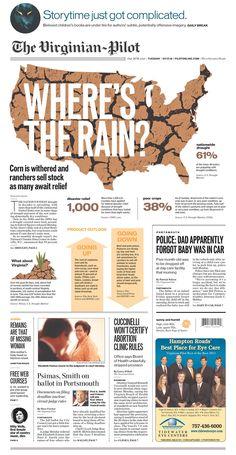 Virginian-Pilot drought centerpiece -- simple, bold and effective. - Newspaper Design