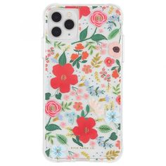 Floral pattern with bright snail iPhone 11 case
