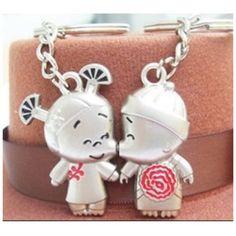 Keychain boy girl couple key ring jewelry
