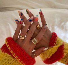 Nagellack Design, Nagellack Trends, Minimalist Nails, Minimalist Fashion, Nail Swag, Nail Jewelry, Jewellery Rings, Gold Jewelry, Funky Nails