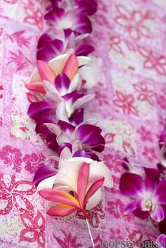 Make a Fresh Orchid Flower Lei.