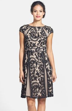 Holiday Party Adrianna Papell Lace Fit & Flare Dress (Regular & Petite) available at #Nordstrom