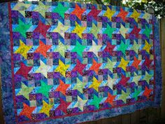 Friendship Star quilt - all in batiks - my love for batiks started when I visited my first fabric store in Key West.