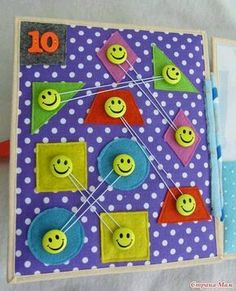* Development book Account- Russia- Different and beautiful ideas Diy Quiet Books, Baby Quiet Book, Felt Quiet Books, Quiet Book Templates, Quiet Book Patterns, Book Projects, Sewing Projects, Silent Book, Sensory Book