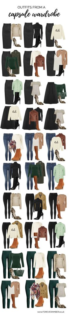 Fashion infographic & data visualisation Capsule wardrobe for autumn/winter – wardrobe essentials Infographic Description selection of outfits created from a capsule wardrobe – Infographic Source – Winter Wardrobe Essentials, Capsule Wardrobe Work, Capsule Outfits, Fashion Capsule, Mode Outfits, Winter Outfits, Fashion Outfits, Womens Fashion, Fashion Tips