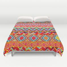 India Style Pattern (Multicolor) Duvet Cover by maximilian