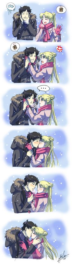 Seiya + Usagi: Toasty by YoukaiYume.deviantart.com on @deviantART