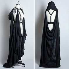 Instagram media by apatico - Draped Cape Harness  with hood ♥ #harness #cape #hood #hooded #gothic #allblackeverything #gothgoth #gothicfashion #blackpvc #fetishfashion #shroud #apatico #handmade