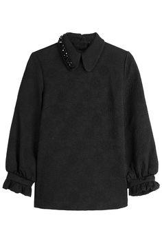 #AdoreWe #STYLEBOP.com (FR/NL/IT) - #Simone Rocha Simone Rocha Brocade Top with Embellished Collar - AdoreWe.com
