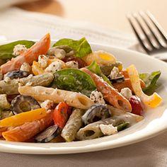 creamy mediterranean style pasta salad more market creamy salads yummy ...
