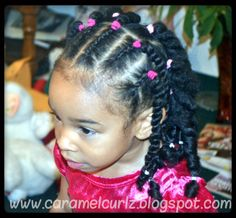 Cornrows & Rope Twists- Caramel Curlz & Swirls
