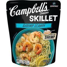 Shrimp Scampi Sauce, Scampi Recipe, Shrimp Recipes Easy, Seafood Recipes, Pasta Recipes, Soup Recipes, Chicken Recipes, Campbell's Skillet Sauces, Shrimp Scampi Ingredients