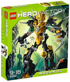 LEGO® Hero Factory ROCKA XL 2282 Features double blade/claw combo tool Stands cm) tall Lion animal power Speciality: Speed, strength and ferocity 174 pieces Lego Bionicle Sets, Bionicle Heroes, Hero Factory, Lego Wheels, Lego Robot, Robots, Witch Doctor, Lego Parts, How To Start Running
