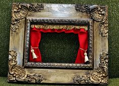 DIY Finger Puppet Theater from a frame-very cute!!