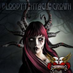Merchant: VENGE Prize Name: Bloody Tentacle Crown Tentacle, Crown, Second Life, Addiction, Anime, Gifts, Art, Art Background, Corona