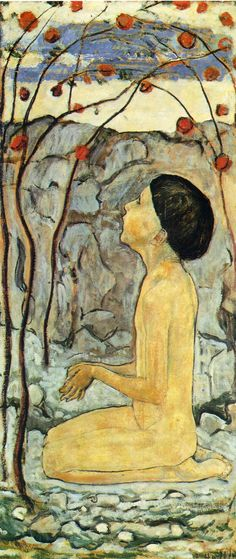 Ferdinand Hodler - Adoration.  Art Experience:NYC  http://www.artexperiencenyc.com/social_login