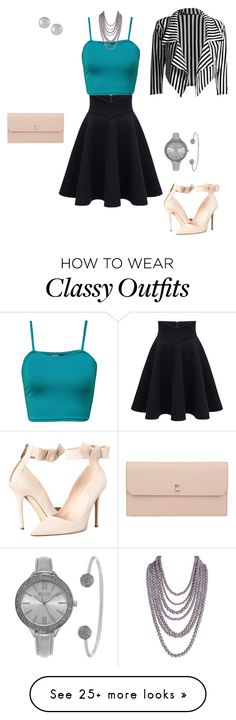 """""""Classy Chic"""" by dalba77 on Polyvore featuring WearAll, Valextra, Kate Spade, Humble Chic, SO & CO and Majorica"""