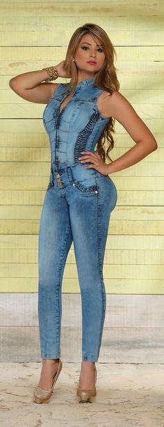 Enterizo jeans colombiano levanta cola www.pathymoda.com https://www.facebook.com/pathy.modas
