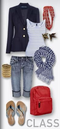 Perfect for Vacationing Outfit ~ Nautical Style