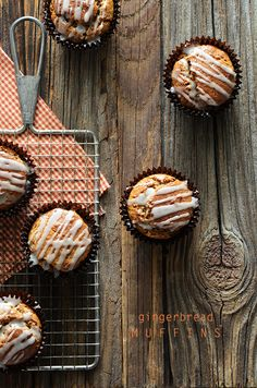 Gingerbread Muffins, the perfect festive Christmas-y treat!