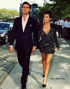 Scott Disick and Kourtney Kardashian. Best dressed couple