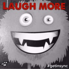Laugh more. Have some fun. Happy Monday. #getinsync #butterfly #mikayla