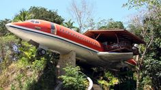 Adventurous travelers in Costa Rica can stay in a vintage Boeing 727 airplane, refurbished into a two-bedroom suite that sits high in the jungle canopy.